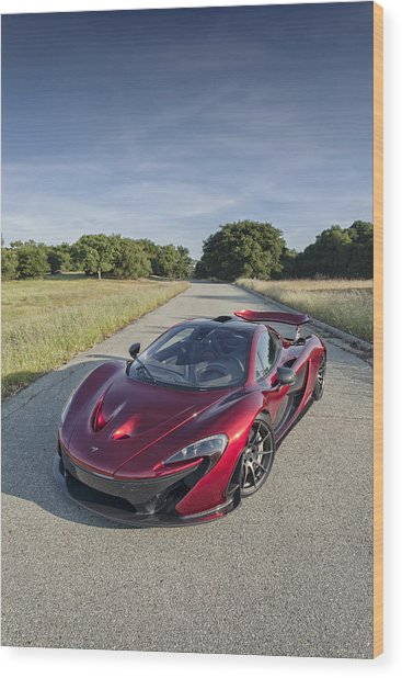 Wood Print featuring the photograph Mclaren P1 by ItzKirb Photography