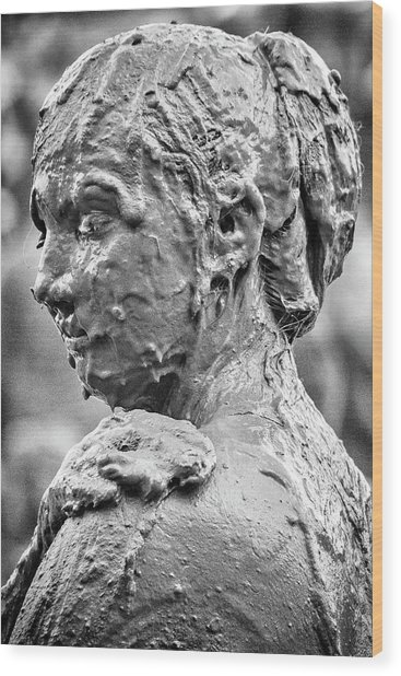 Me Mudder Wood Print by Winnie Chrzanowski