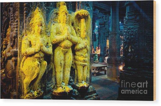 Meenakshi Temple Madurai India Wood Print