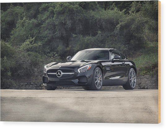 Wood Print featuring the photograph #mercedes #amg #gts by ItzKirb Photography