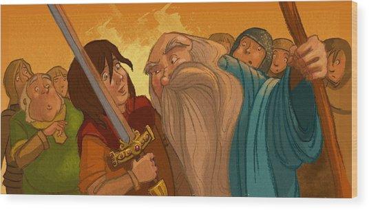 Merlin's Scrutiny Wood Print