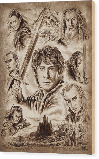 Middle Earth Wood Print