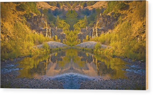 Wood Print featuring the photograph Middle Fork Magic 2 by Sherri Meyer