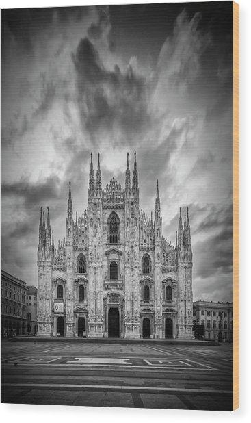 Milan Cathedral Santa Maria Nascente Wood Print