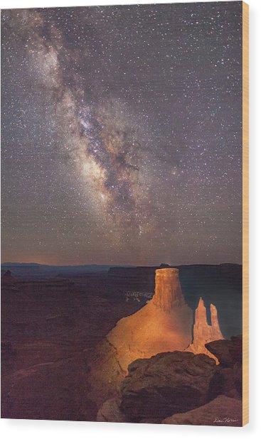 Milky Way At Marlboro Point Wood Print