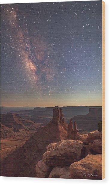 Milky Way At Twilight - Marlboro Point Wood Print