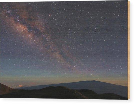 Milky Way Over Mauna Loa Wood Print