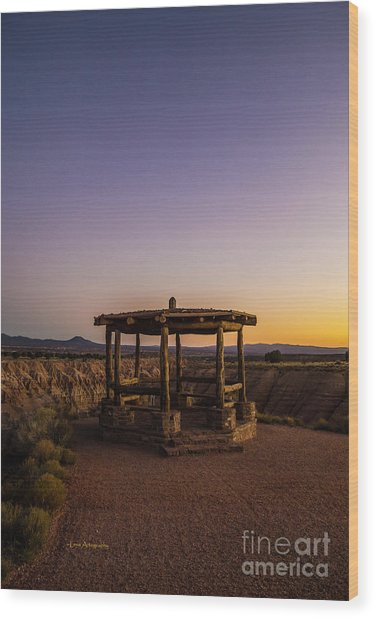 Cathedral Gorge Gazebo Wood Print