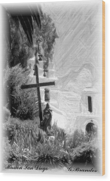 Mission San Diego Wood Print