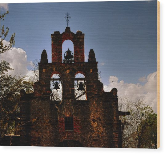 Mission San Francisco De La Espada Wood Print