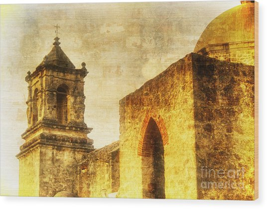 Mission San Jose San Antonio, Texas Wood Print