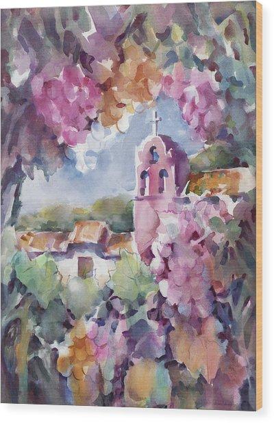 Mission Vineyard Wood Print by Joan  Jones
