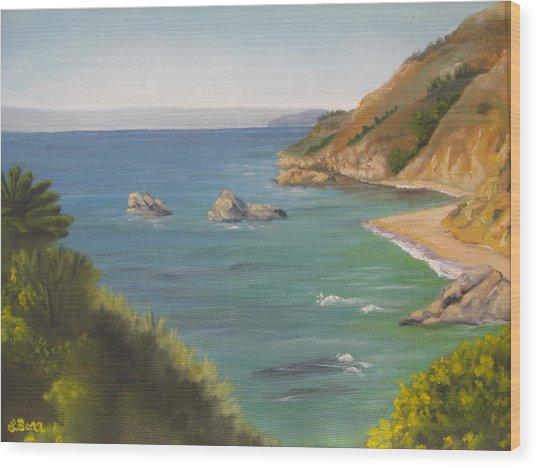 Monterey II Wood Print by Lisa Barr