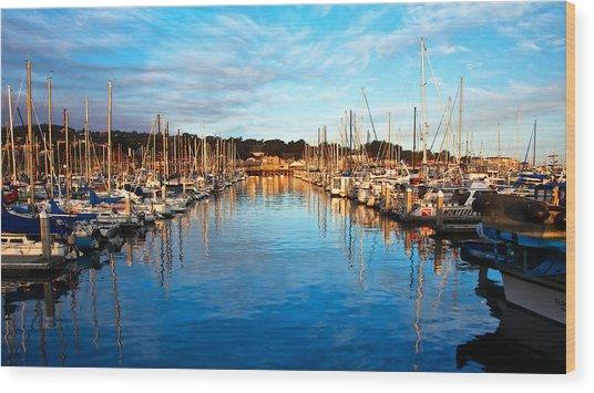 Monterey Marina, California Wood Print