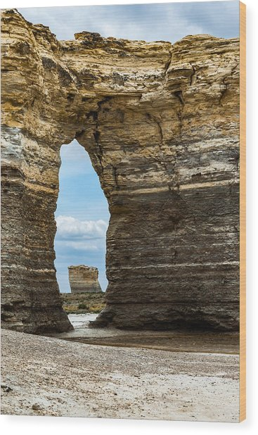 Monument Rocks Wood Print