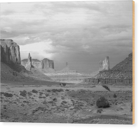 Monument Valley Afternoon Wood Print by Troy Montemayor