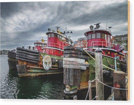 Moran Towing Tugboats Wood Print