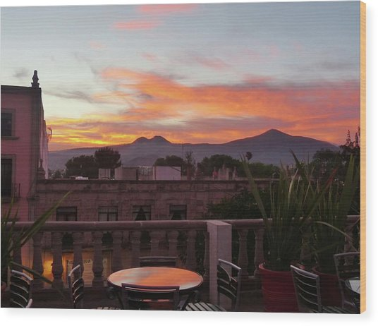 Morelia Sunset Wood Print