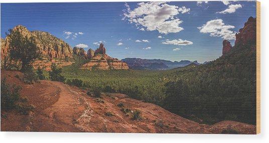 Mormon Canyon Panorama Wood Print