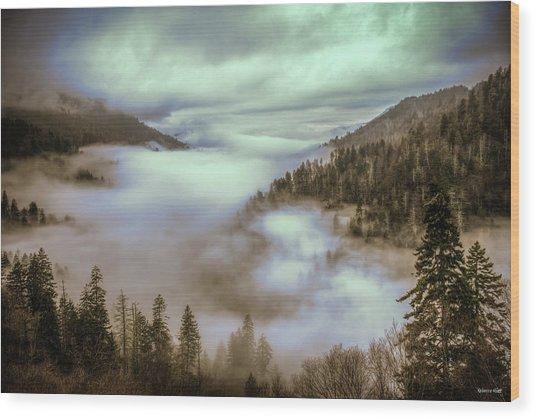 Morning Mountains II Wood Print