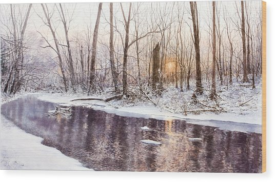 Morning On Monocacy Wood Print by Steven J White PWS