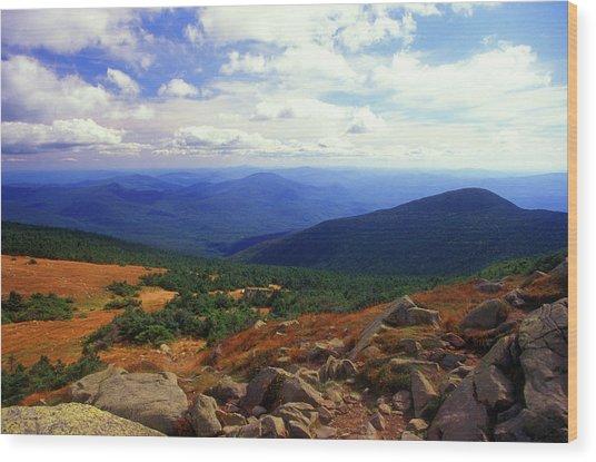 Mount Moosilauke Summit  Wood Print