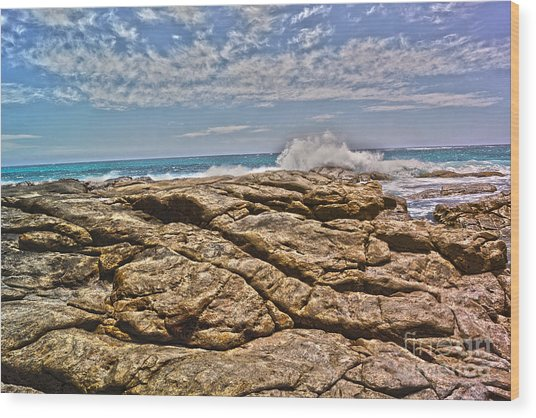 Mouth Of Margaret River Beach II Wood Print