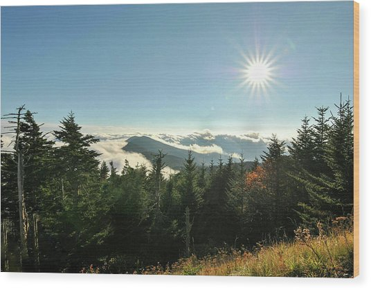 Mt Mitchell Landscape Wood Print