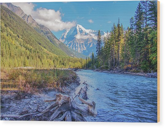 Wood Print featuring the photograph Mt. Robson 2009 02 by Jim Dollar