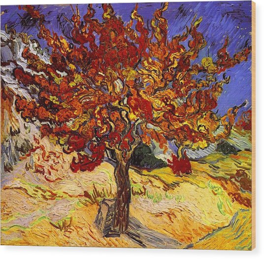 Wood Print featuring the painting Mulberry Tree by Van Gogh