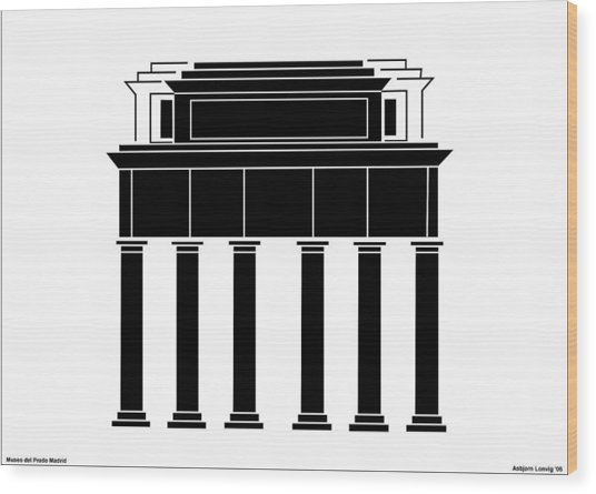 Museo Del Prado Wood Print by Asbjorn Lonvig