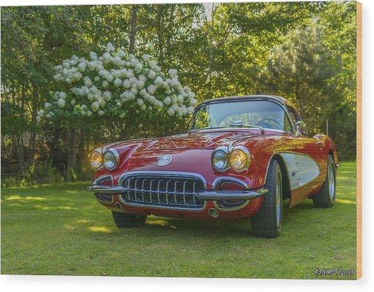 My 1960 Corvette Wood Print