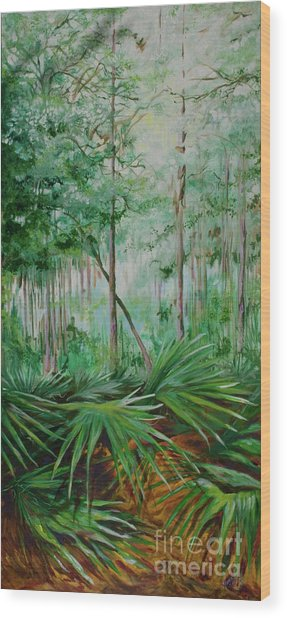 My Backyard Wood Print by Michele Hollister - for Nancy Asbell