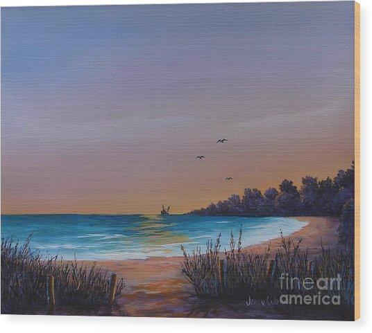 Myrtle Beach Sunset Wood Print