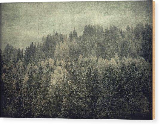 Mystic Woods Wood Print