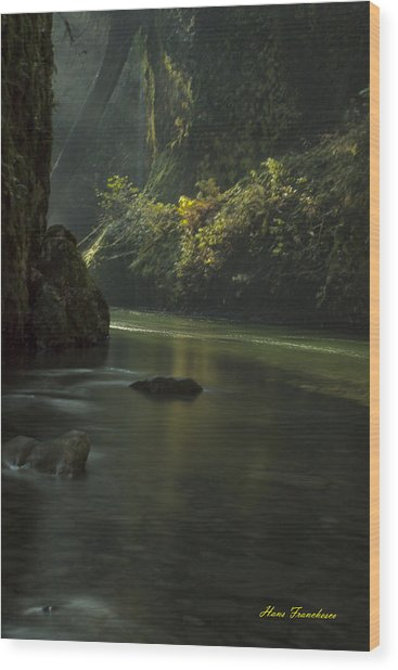 Mystical Canyon Signed Wood Print