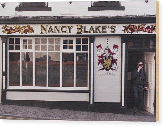 Nancy Blake's Irish Pub Wood Print