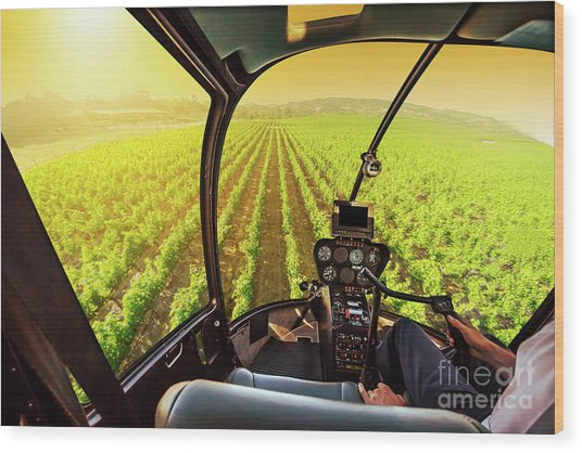 Napa Valley Scenic Flight Wood Print