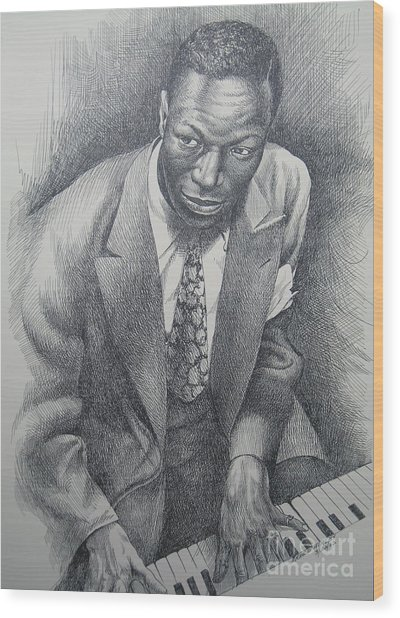 5eced037b0c95c Nat King Cole Wood Print by Arnold Hurley