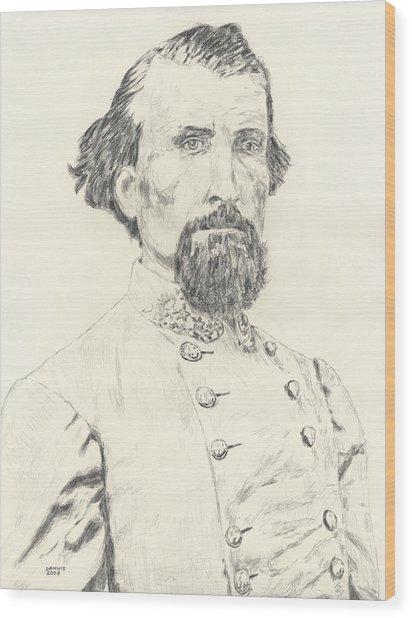 Nathan Bedford Forrest Wood Print by Dennis Larson