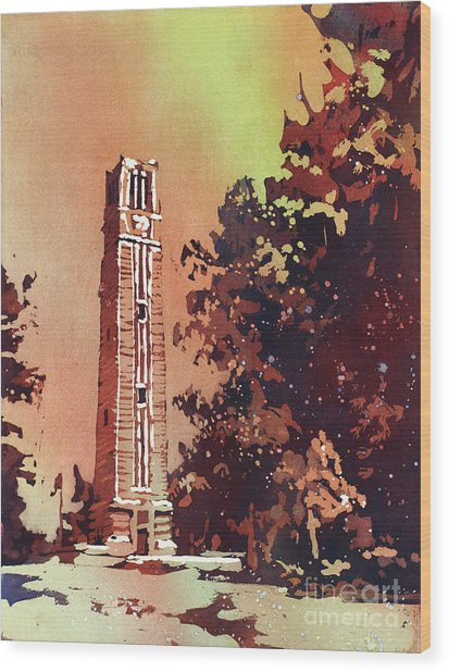 Ncsu Bell-tower Wood Print