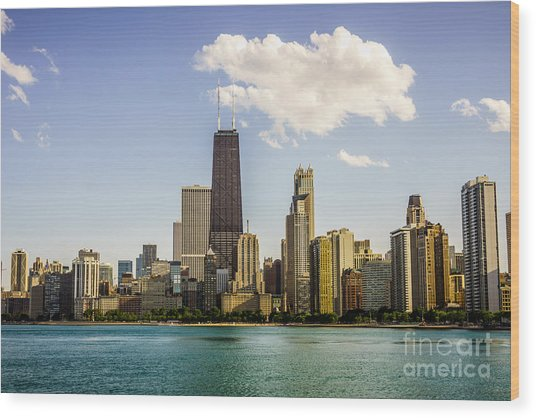 Near North Side Chicago Skyline Wood Print