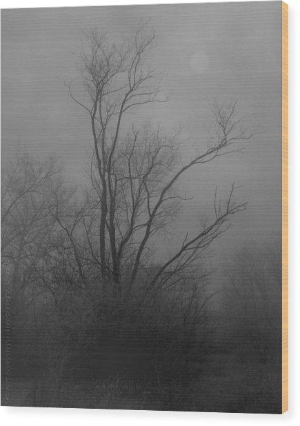 Nebelbild 13 - Fog Image 13 Wood Print