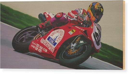 Neil Hodgson - Ducati World Superbike Wood Print by Jeff Taylor