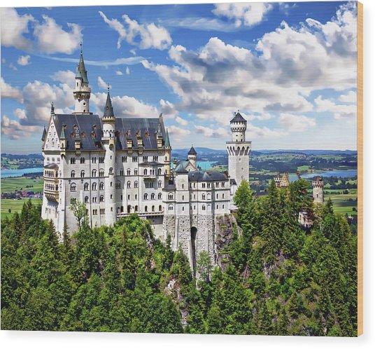 Neuschwanstein Castle Wood Print
