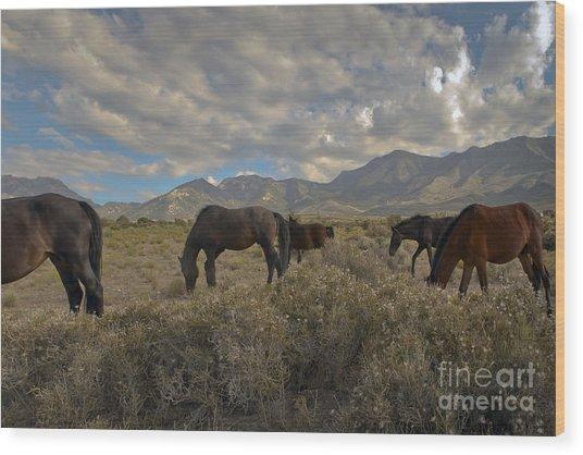 Nevada Wood Print by Glenn Vidal