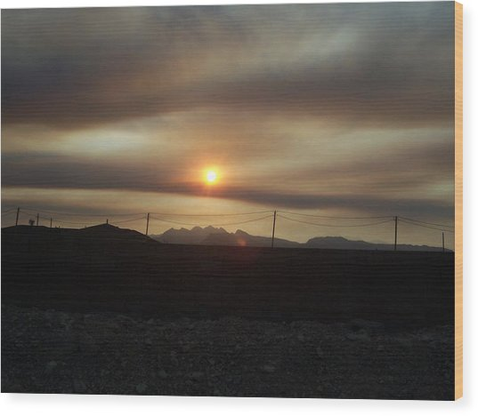 Nevada Sunset Wood Print by Patricia  Williams