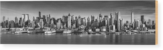 New York City Panorama Wood Print