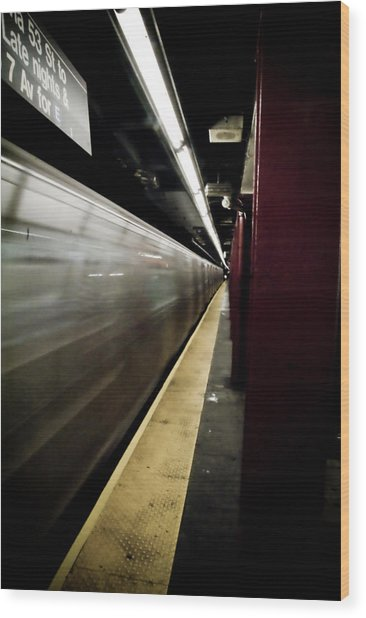 New York City Subway Wood Print by Patrick  Flynn