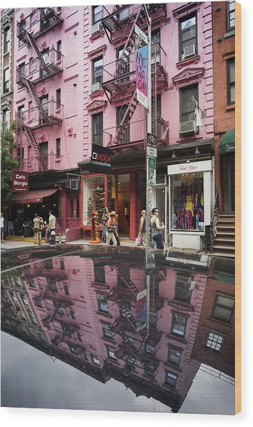 Wood Print featuring the photograph New York Soho  by Juergen Held